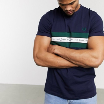 TSHIRT FRED PERRY TAPED CHEST