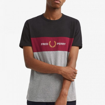 TSHIRT FRED PERRY EMBROIDERED