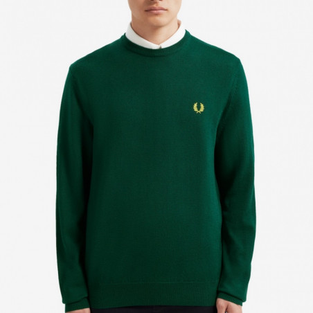 CREW NECK FRED PERRY CLASSIC COTTON